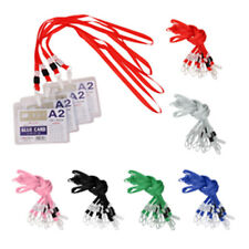 10pcs Necklace Neck Strap Lanyard String For ID Pass Card Badge Plastic Clasp