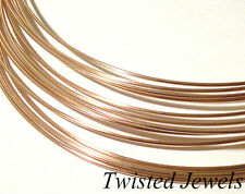 1oz 14K Rose Gold-Filled HH HALF-ROUND Jewelry Wire 16 18 20 21 22 24 GA Gauge