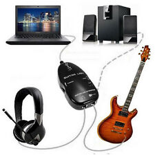 Adapter Electric Guitar to USB Interface Link Audio Cable for PC/MAC Recording