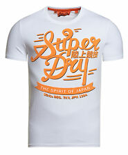 New Mens Superdry Crude Curl Entry T-Shirt Optic