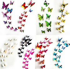 12 pcs 3D Butterfly Wall Stickers Art Decal Home Room Decorations Decor Children