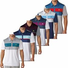 """NEW 2017"" ADIDAS GOLF MENS CLIMACOOL® CHEST BLOCK POLO PERFORMANCE GOLF SHIRT"