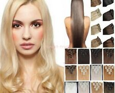 Full Head Clip in Human Hair 100% Real Remy Virgin Human Hair Extensions Weft