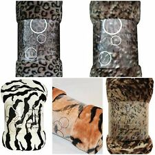 Faux Mink Fur Animal Print Sofa, Couch, Bed Throws - 127cm x 152cm (5 x Designs)