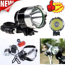 95000LM CREE XM-L T6 LED Waterproof Front Bicycle Bike Light Headlamp + Battery