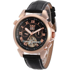 JARGAR Tourbillon Automatic Mechanical Date Day Leather Men Wrist Watch