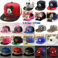 Cartoon Kids Boys Girls Adjustable Baseball Cap Hip Hop Snapback Visor Sun Hat