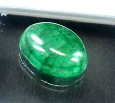 9.80  CT Natural Beautiful Cabochon Oval Cut Green Emerald Gemstone Nice Offer ~