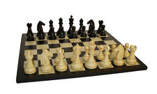Black Mustang Chess Set With Black/Maple Board