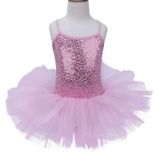 Girls Gymnastics Ballet Dress Toddler Kid Leotard Tutu Skirt Dance wear Costume