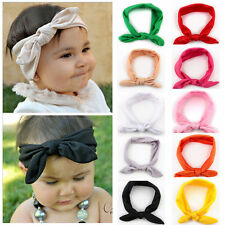 Kids Girl Baby Headband Toddler Rabbit Bow Knot Hair Band Accessories Hairwrap