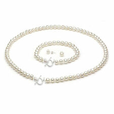 Sterling Silver Freshwater Pearl Toggle Clasp 3-piece Jewelry Set (9-10mm)