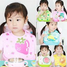 Kids Toddler Waterproof Cartoon Lunch Bibs Infant Baby Animal Saliva Towel Bib