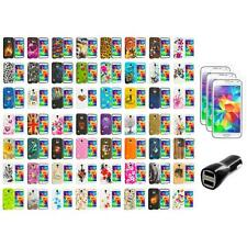 For Samsung Galaxy S5 TPU Design Soft Silicone Case Cover + LCD Film+Charger