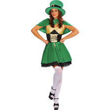 Ladies Lucky Leprechaun Costume for St. Patrick's Day Irish Fancy Dress Womens