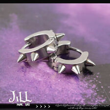 punk metal heavy rock Cerberus hound spike studs huggie earrings【J1S8006】