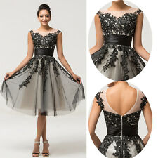 Soft Tulle Black Lace Prom Dresses Ball/Cocktail/Evening/Party Dress Short Gown
