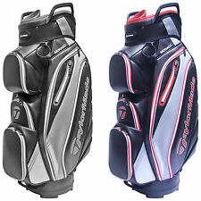2017 TAYLORMADE MENS MONACO CART BAG - NEW 14-WAY DIVIDER TOP GOLF TROLLEY BAG