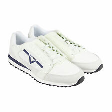 Diesel S-Fleett Mens White Leather Lace Up Sneakers Shoes