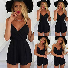 Ladies Summer Holiday Playsuit Jumpsuit Casual Beach Party Romper Mini Sun Dress