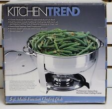 KITCHEN TREND CHAFING DISH 4 QT W/LID MULTI FUNCTION STAINLESS STEEL NEW IN BOX