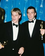 Matt Damon and Ben Affleck Color Poster or Photo with Academy Awards