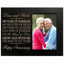 50th Anniversary Wedding Gift Personalized 4x6 Picture Photo Frame Engraved