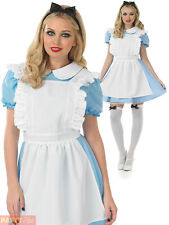Ladies Traditional Alice Costume Adults Fairytale Fancy Dress Book Week Outfit