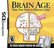 Brain Age: Train Your Brain in Minutes a Day (Nintendo DS, 2006) Complete Used