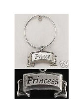 Pet Dog Cat JEWELRY PEWTER PRINCE or PRINCESS Collar Charm Tag *NEW