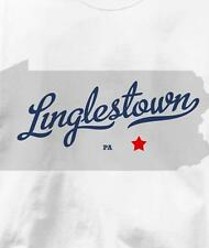 Linglestown, Pennsylvania PA MAP Souvenir T Shirt All Sizes & Colors