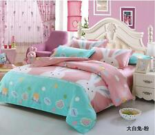 100% Cotton Pink Rabbit Bed Duvet Cover Quilt Cover Set / Sheet Set/Fitted/Flat