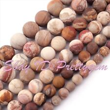 "Round Natural Picture Jasper Frost Multicolor Gemstone Beads 15"" 6mm 8mm 10mm"