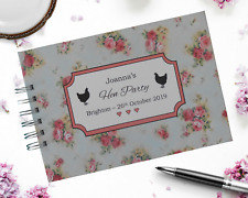 Personalised Vintage Rose HEN PARTY Guest Book Photo Album Scrapbook HEN NIGHT