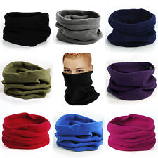 Unisex Polar Fleece Neck Warmer Thermal Snood Scarf Ski Balaclava Beanie Hat New