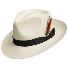 Fedora GULLPORT Reward Classic Straw Panama Hat Exotic Feather Ultrafino