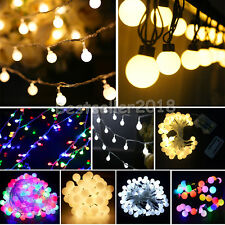 4~10M 20/40/50/70 LED Bulb Solar/Battery/Electric Ball Party String Fairy Lights