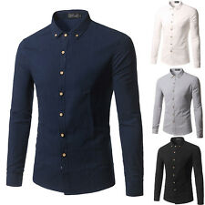 New Mens Comfortable Stylish Casual Long Sleeve Dress Shirts Slim Fit Shirts 107