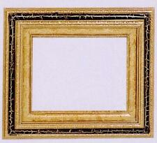 """NEW BLACK/GOLD WOOD 16X20 FRAME  3"""" WIDE//FRAME HARDWARE/16X20 STRETCHED CANVAS"""