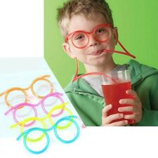 Novelty Flexible Soft Glasses Silly Drinking Straw Glasses For Kids Party