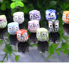 wholesale 10pcs Diy accessories 15 x16mm animal owl ceramic bead, Loose bead
