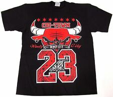 BULLS T-shirt Chicago Windy City Chi-Town Paisley 23 Tee Adult L-3XL Black New