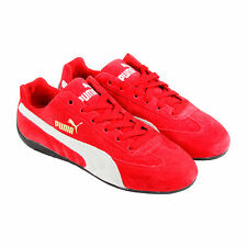 Puma Speed Cat Mens Red Suede Lace Up Sneakers Shoes