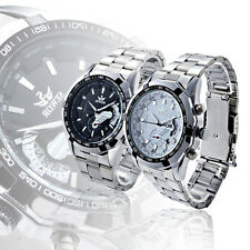 Mens Stainless Steel Automatic Mechanical Watch Luxury Date Analog+Gift Box
