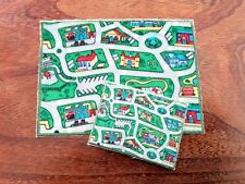 CAR PLAYMAT / RUG for 1:24th or 1:12th scale dolls house nursery toy shop childs