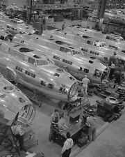 B-17 bombers on production line at Boeing in Seattle 1942 WWII Photo Print