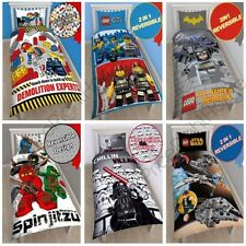 OFFICIAL LEGO SINGLE DUVET QUILT COVERS – CITY, NINJAGO, STAR WARS & SUPERHEROES