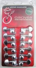 GROVER 12 String CHROME Guitar Mini Rotomatic Machine Heads Tuner pegs 205C12 NR