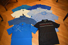 8 PC LOT MENS SHORT SLEEVE POLO GOLF SHIRTS NIKE GREG NORMAN TOMMY ARMOUR SZ MED