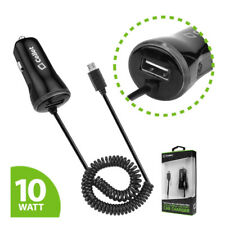 Cellet High Powered 10 Watt 2.1 Amp Micro USB Car Charger with USB Port - Black